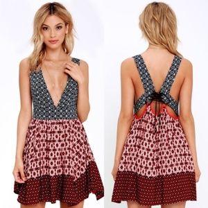 Lulu's Cutout Tie Back Dress
